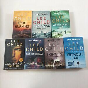 Bundle of 7 Lee Child Jack Reacher Novels - Tripwire, Personal, The Hard Way +++