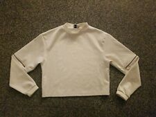 ASOS  Long Zip Sleeve Mock Blouse Size 4 Cropped Shell Top NWOT