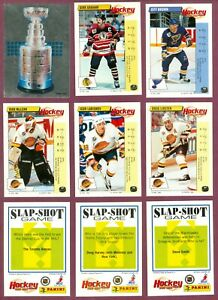 1992-93 PANINI STICKERS ENGLISH NHL HOCKEY CARD 194 TO 308 + FOIL A-V SEE LIST