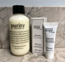 Philosophy Purity Made Simple Facial Cleanser 3oz + Renewed Hope In A Jar .24oz