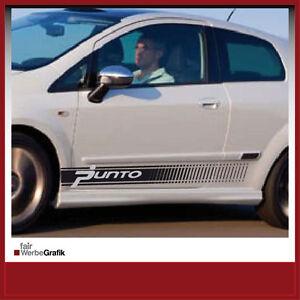 Aufkleber /  Sticker / Seitenbeschriftung / Dekor / Fiat Grande Punto/ #210