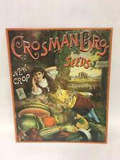 Metal Crosman Bros Seed Sign