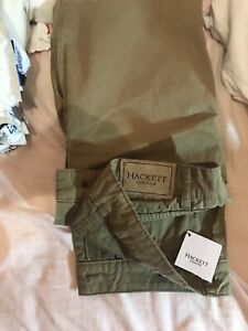 New Hackett London  Khaki Chinos size 32r RRP £129