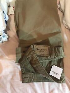 New Hackett London  Khaki Chinos size 32r RRP £129