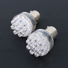 2x BA15d Bright White 1157 12-SMD LED Car Brake Turn Signal Stop Tail Light Bulb