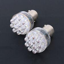 2x BA15d Bright White 1157 12-SMD LED Car Brake Turn Signal Stop Tail Light Bulb