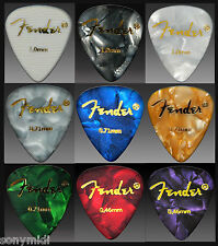 PÚAS GUITARRA puas FENDER Mix 9 Guitar picks plectrum Bajo, Bandurria, laud..