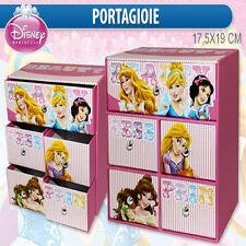 Princesses Schmuck Halter c/5 Schubladen in Karton gedrückt cm 17,5x19