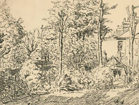 Harold Hope Read (1881-1959) - Pen and Ink Drawing, Garden Study