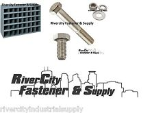 STAINLESS STEEL BOLT NUT & WASHER ASSORTMENT-KIT 1496 WITH A METAL 40 HOLE BIN
