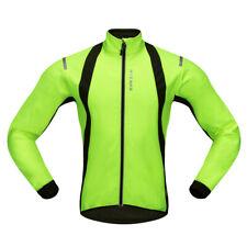 Mens Cycling Jacket High Visibility Waterproof Running Top Rain Coat Jersey