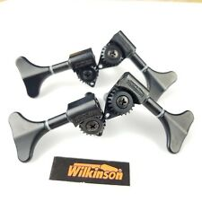 1 Set 2L2R Wilkinson WJB-750 Black Open Gear Bass Side Mini Bass Tuner NEW