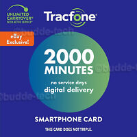 TracFone New Smartphone Plan *2000 Minutes* Talk Time Web Exclusive Airtime PIN#