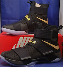 factory price 68916 a1f23 Nike Zoom Lebron Soldier 10 X iD Championship Pack Black Gold SZ 14 (885682-