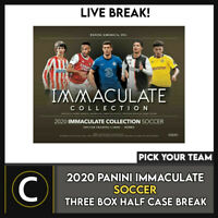 2020 PANINI IMMACULATE SOCCER 3 BOX (HALF CASE) BREAK #S118 - PICK YOUR TEAM