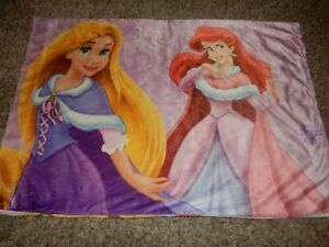 Disney Princess Princesses Plush Velour Standard Pillow Case (Fabric)