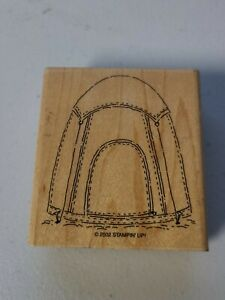Stampin' Up! Tent Campout 2002 Replacement Wood Mounted Single Stamp