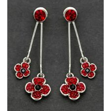 Equilibrium Silver Plated Double Poppy Earrings 61947
