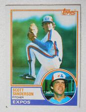 Scott Sanderson Topps #717 Expos