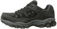 Skechers Mens Crankton Steel toe Lace Up Safety Shoes, Black/Charcoal, Size 9.5