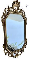 Vintage Gold Ornate Framed Mirror Hollywood Regency By Syroco