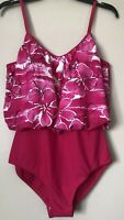 Vintage Ceeb Tummy Trimmer One Piece Swimsuit Size 12 Bathing Suit Slimming $80
