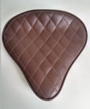 Large Custom Solo Seat Brown Diamond for Harley Bobber Chopper Yamaha Triumph