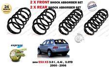 für BMW X5 E53 3.0 4.4 3.0TD 2000-2006 New 2x Front + 2x Fahrwerksfeder Hinten