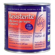 RESISTENTE L16 Solas Vernici naturali - Olio duro per legno in interni 0,75 Lt