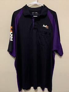 FedEx Ground Stan Herman Uniform Work Polo Shirt Short Sleeve Size XXL 2XL