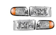Replacement Front Headlights with Corner Lamps 4PC Set Left /& Right Safari Continental 1999-2000 RV Motorhome Pair