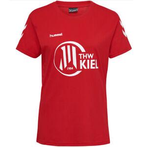 THW Kiel hummel Damen T-Shirt Handball Fan Shirt 207670-3062 Gr. S rot neu