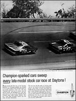 1961 Marvin Panch Daytona 500 Champion spark plugs vintage photo Print Ad adL65
