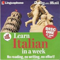 LEARN ITALIAN - DISC 1 OF 9 - MAIL PROMO CD