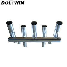 Dolphin 5 Rod Holder |Fishing Console Boat T Top Rocket Launcher Anodized