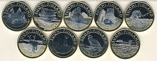 5 Euro 2014 - 2015 Finnland Set 9 Münzen Tiere der Provinzen