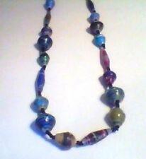 HAND MADE MULTI COLOR BEAD NECKLACE - FREE SHIPPING