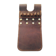 Cow Leather Arrow Quiver Pocket Hip Holder Belt Pouch Bag Waist Archery Hunting