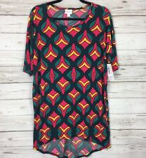NWT LuLaRoe Holiday IRMA XS SLINKY Christmas Shirt Red Green Xmas Festive