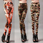 Women Slim Skinny New Print Punk Funky Stretch Pencil Tights Pants Trousers