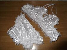 SISSY~MAIDS~ADULT BABY~TV/CD~UNISEX SATIN & LACE BRA AND PANTIES SET