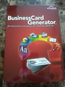 Summitsoft Business Card Generator PC NEW, SEE DESCRIPTION