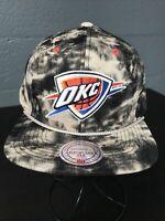 🏀Mitchell&Ness NBA Oklahoma City Thunder Snapback Cap Hat Adjustable🧢Free Ship