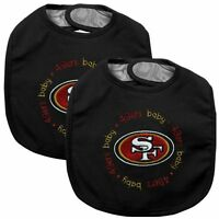 NFL San Francisco 49'ers Baby Bib 2-Pack Velcro Close By Baby Fanatic Free Ship