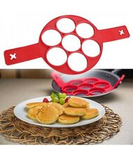 Pancake Maker Mould Non Stick Silicone Breakfast Egg Ring Omelette Flip Tool