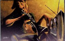 DAVID GARIBALDI  GICLEE ON CANVAS  URBAN TUNES BLUES PLAYER LIMITED EDITION
