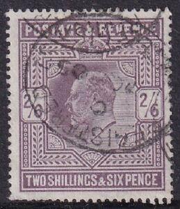 GB Stamp - EDVII - 1902 - 2/6 - Used - Registered Cancel