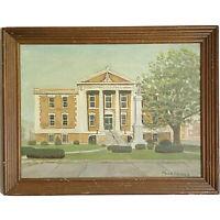 Americana Vintage Old Courthouse Bristol Virginia VA Oil Art Painting