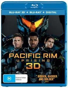 Pacific Rim: Uprising (3D + 2D Blu-ray + Digital, 2018) 2 Disc Region B NEW