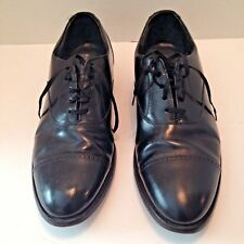 Stafford Comfort Plus Black Leather Cap Toe Lace Up Oxford Dress Shoes Sz 12 USA